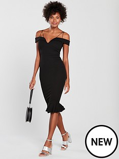 ax-paris-strappy-frill-hem-bodycon-dress-blacknbsp