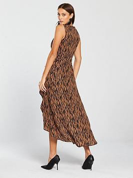 0e8ca66746 AX Paris Zebra Printed Frill Dress - Camel. View larger