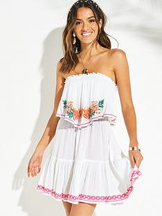 v-by-very-bardot-frill-embroidered-beach-dress-pink