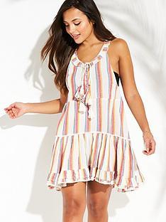 v-by-very-multi-yarn-dyed-beach-dress-stripe
