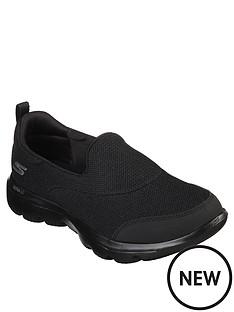 skechers-wide-fit-go-walk-evolution-ultra-reach-mesh-trainers-black