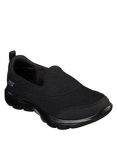 f23c1ad53 Skechers Go Walk Evolution Ultra Reach Mesh Plimsoll Shoes - Black