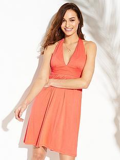 v-by-very-jersey-halter-beach-dress-bright-coral