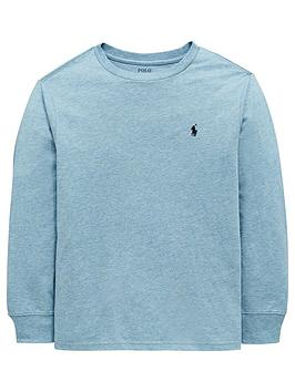 Ralph Lauren Boys Classic Long Sleeve T-Shirt - Light Blue ... e16ab910a17