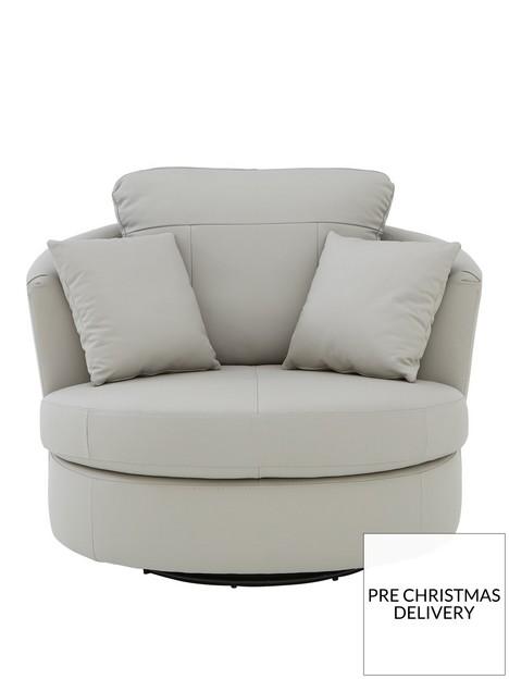 merkle-leatherfaux-leather-swivel-chair