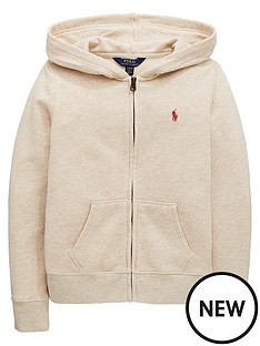 ralph-lauren-girls-zip-through-hooded-sweat-oatmeal