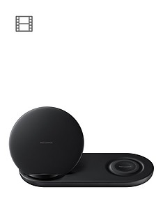 samsung-qi-enabled-wireless-charger-duo-stand-for-any-samsung-smartphone-inc-s10s10s10e-black-with-travel-adaptor