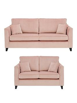 New Dante 3 Seater + 2 Seater Fabric Sofa Set (Buy and SAVE!)