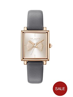 ted-baker-ted-baker-rose-gold-and-pink-bow-square-dial-grey-leather-strap-ladies-watch