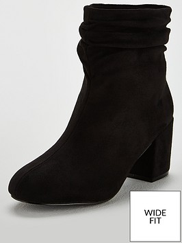 ab8cdf089f8 V by Very Wide Fit Fame Slouch Ankle Boots - Black ...