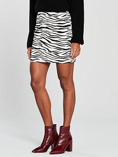 v-by-very-zebra-print-skirt-printed