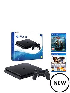 playstation-4-ps4-1tb-black-slim-console-with-god-of-war-overwatch-legendary-edition-and-optional-extras