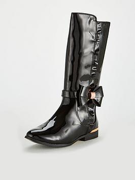 2d73c980a1 Baker by Ted Baker Baker Girls Patent Frill Long Boot |  littlewoodsireland.ie