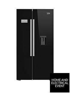 beko-asd241b-american-style-fridge-freezer-with-non-plumbed-water-dispenser-black