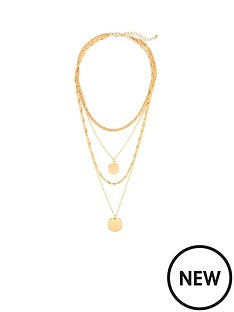 michelle-keegan-layered-circle-necklace-gold