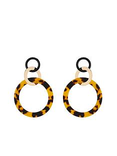 michelle-keegan-gold-and-tort-circle-earring-multi