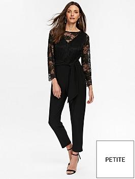 a053d70294 Wallis Petite Lace Jumpsuit - Black