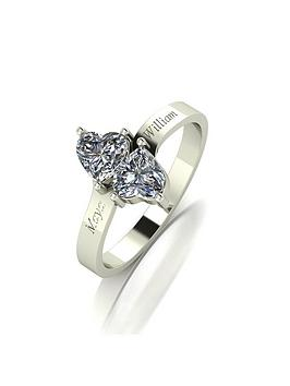 moissanite-personalised-9ct-gold-1ct-eq-moissanite-heart-twist-ring