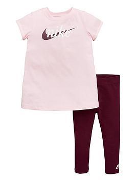 7416d79cf Nike Baby Girls 2 Piece Dress and Leggings Set - Pink ...