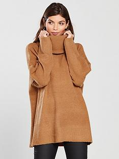 8e81160a17910d River Island Roll Neck Jumper - Toffee