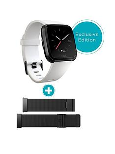 fitbit-versa-white-black-aluminium-with-additional-mesh-band
