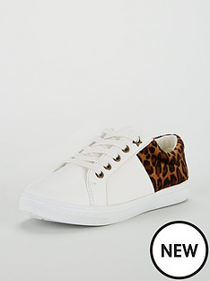 mini-v-by-very-cece-leopard-back-lace-up-trainer
