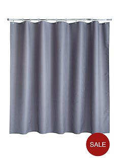aqualona-grey-waffle-shower-curtain