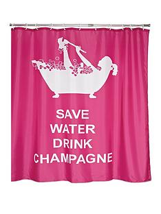 aqualona-save-water-drink-champagne-shower-curtain