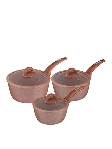 tower-cerastone-rose-edition-set-of-3-saucepans
