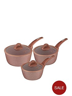 tower-cerastone-rose-edition-set-of-3-saucepans