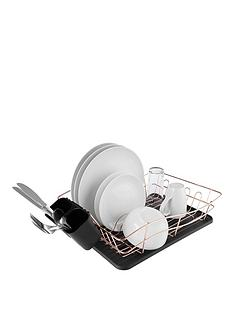 tower-dish-rack-with-rose-gold-tray