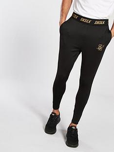 sik-silk-gold-reflect-pants-black
