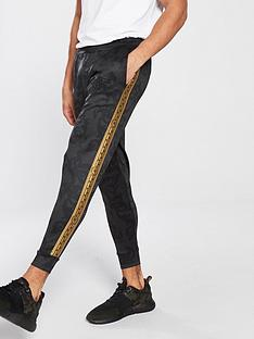 sik-silk-cropped-cuff-poly-pants-black