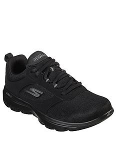 skechers-wide-fit-go-walk-evolution-ultra-enhance-mesh-lace-up-trainers-black