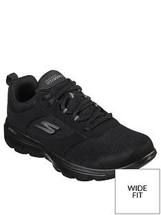 skechers-wide-fit-go-walk-evolution-ultra-enhance-mesh-lace-up-trainers-black