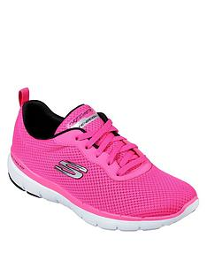 skechers-flex-appeal-30-first-insight-mesh-trainers-pink