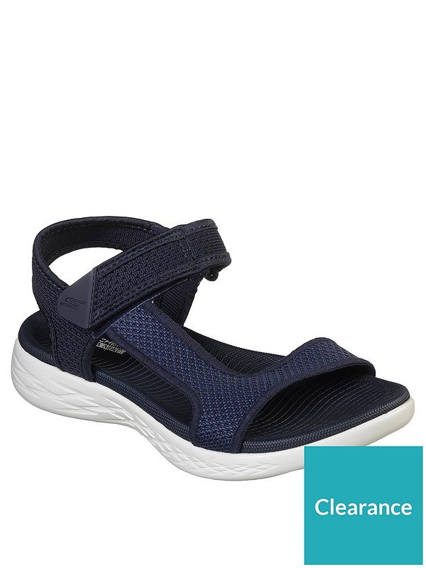 On The Go 600 Force Flat Sandal Shoe NavyWhite