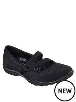 ce8d570e52b0 Skechers Breathe-Easy Lucky Lady Flat Shoes - Black ...