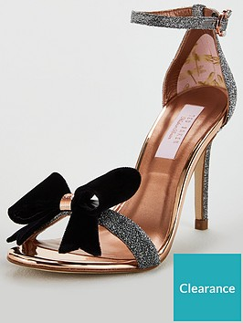 746c5181b Ted Baker Bowdalo Bow Heeled Sandal - Silver