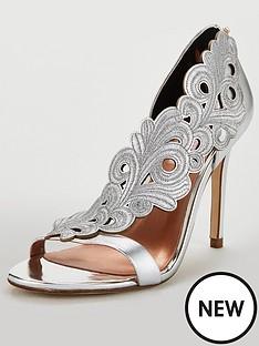 c79e2b23e0c Ted Baker Myrana Heeled Sandal - Silver