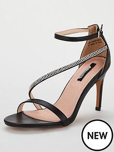 927e080fe15 Lost Ink Lila Jewelled Heeled Sandal