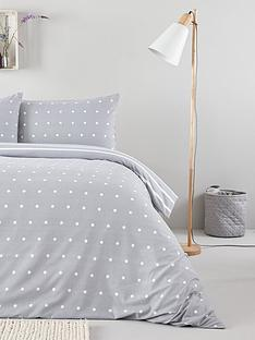everyday-collection-brushed-cotton-printed-spot-duvet-cover-set-greynbsp