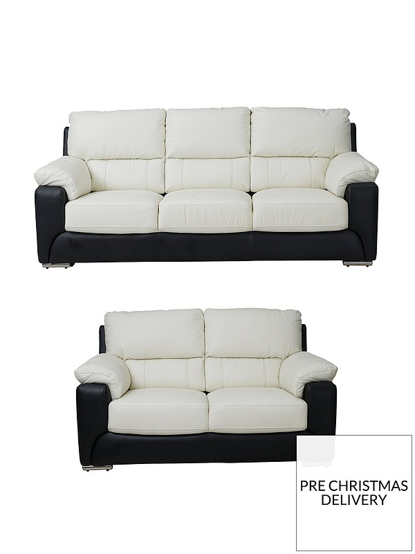 Fabulous Monti Real Leather Faux Leather 3 Seater 2 Seater Sofa Set Buy And Save Onthecornerstone Fun Painted Chair Ideas Images Onthecornerstoneorg