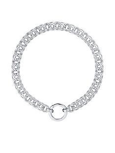 karen-millen-hoop-chain-necklace-silver