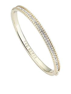 ted-baker-halo-crystal-bangle-gold