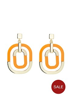 karen-millen-contrast-pop-earrings-gold