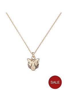 karen-millen-leopard-small-crystal-pendant-necklace-gold
