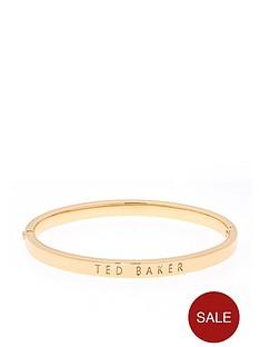 ted-baker-clemina-hinge-engraved-metallic-bangle-gold