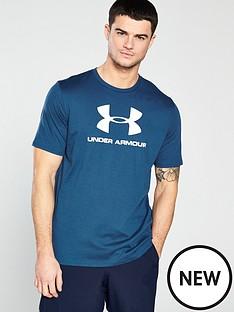 under-armour-sportstyle-t-shirt-petrol-blue