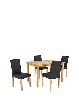 wilson-120-cm-solid-wood-dining-table-4-lucca-chairs